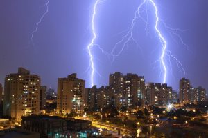 LIGHTNING AND THUNDER IN HEBREW